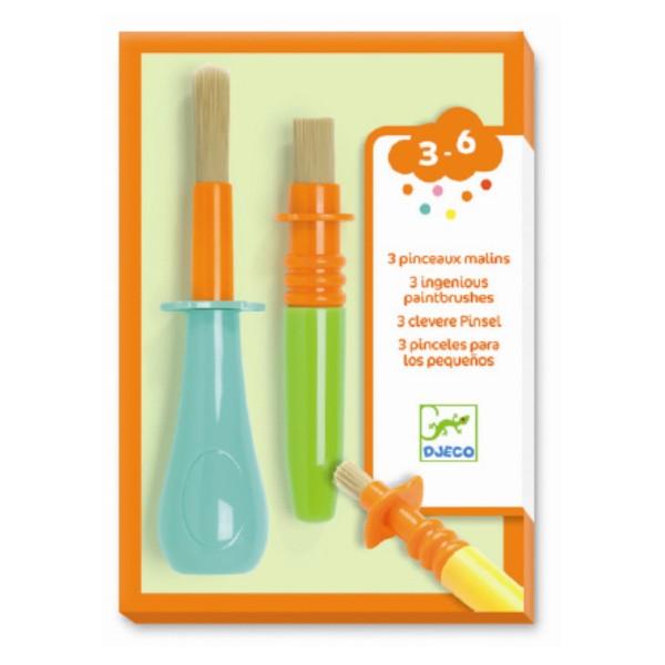 Pensule de colorat set 3 buc djeco