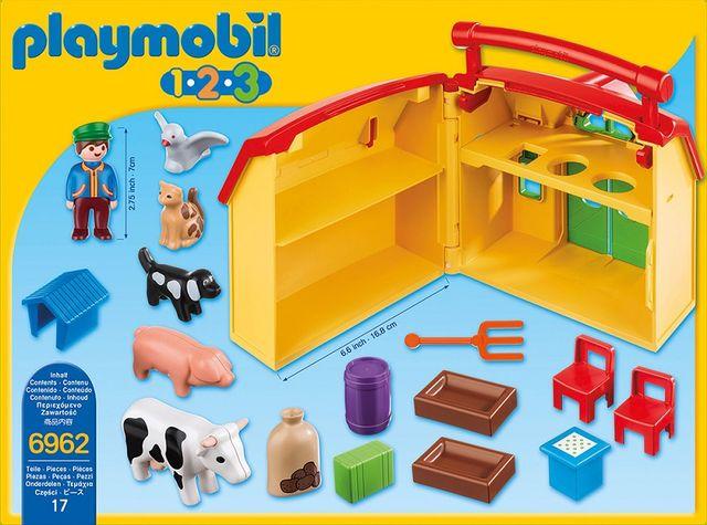 Ferma set mobil playmobil 1.2.3 - 1