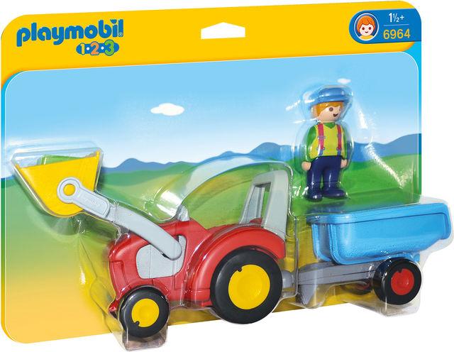 Tractor cu remorca playmobil 1.2.3