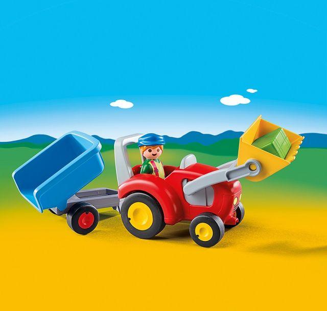 Tractor cu remorca playmobil 1.2.3 - 2