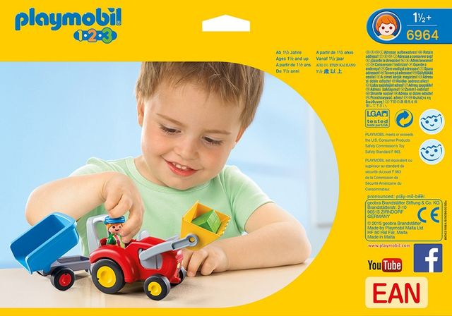 Tractor cu remorca playmobil 1.2.3 - 1