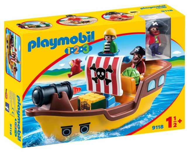 Barca piratilor playmobil 1.2.3