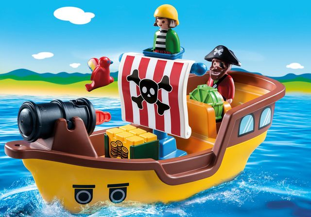 Barca piratilor playmobil 1.2.3 - 3