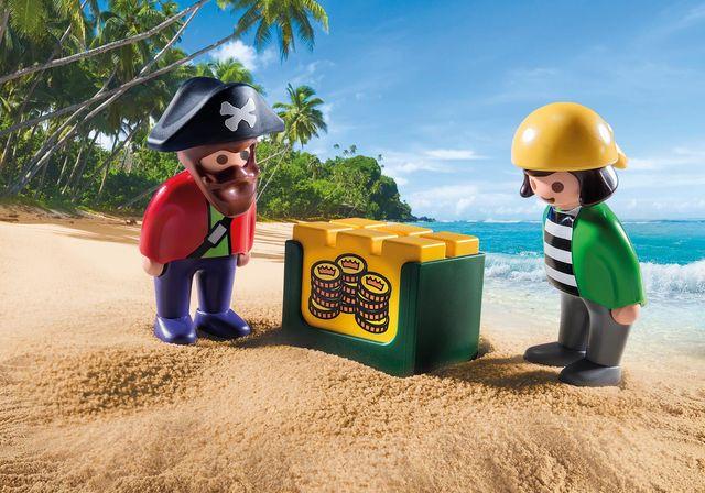 Barca piratilor playmobil 1.2.3 - 2