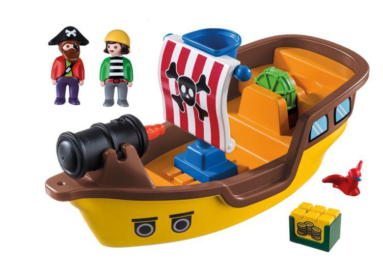 Barca piratilor playmobil 1.2.3 - 1