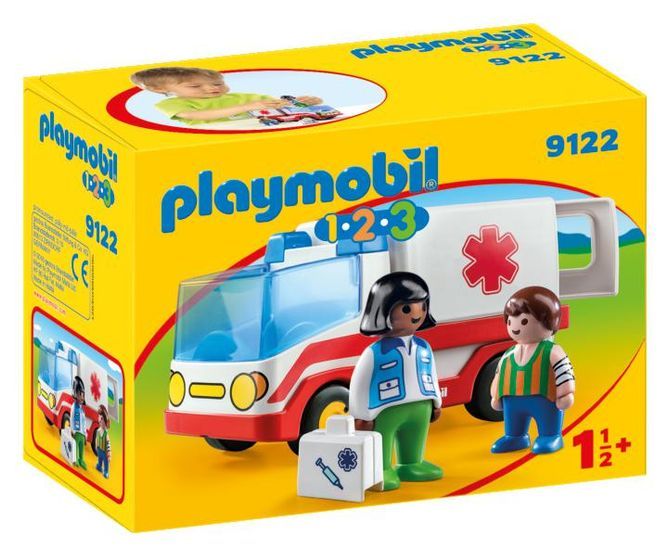 Ambulanta si echipajul de salvare playmobil 1.2.3 imagine