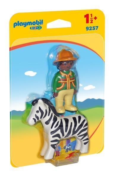 Padurar cu zebra playmobil 1.2.3