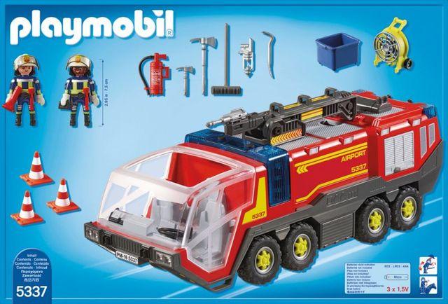 Masina de pompieri a aeroportului playmobil city action - 2