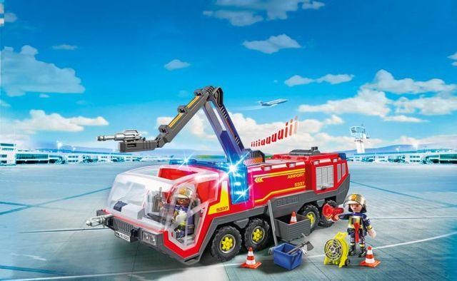 Masina de pompieri a aeroportului playmobil city action - 1