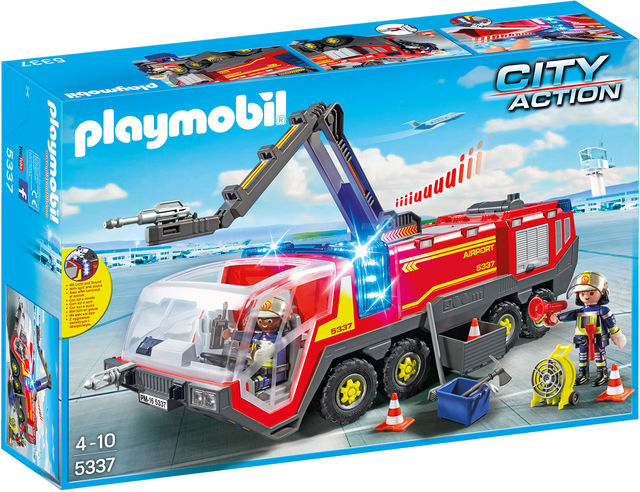 Masina de pompieri a aeroportului playmobil city action