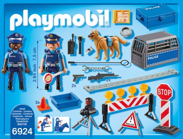 Blocaj rutier al politiei playmobil city action - 2