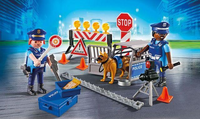 Blocaj rutier al politiei playmobil city action - 1