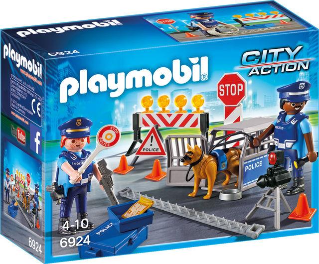 Blocaj rutier al politiei playmobil city action