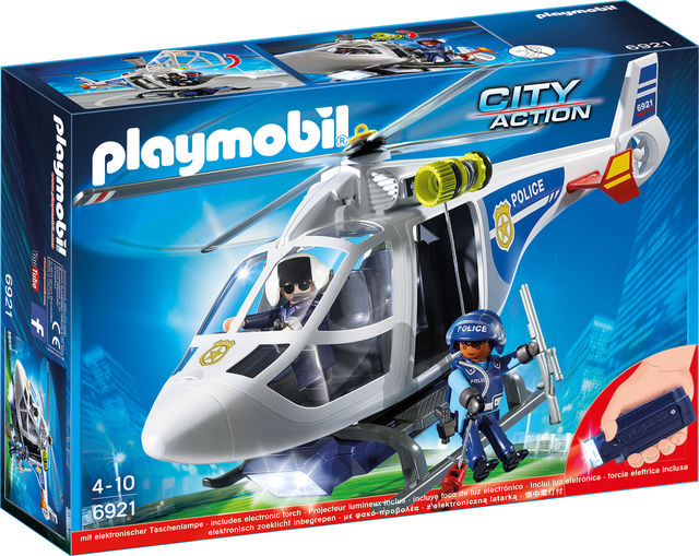 Elicopter de politie cu led playmobil city action - 0