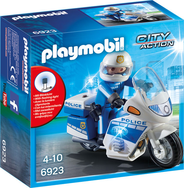 Motocicleta politiei cu led playmobil city action