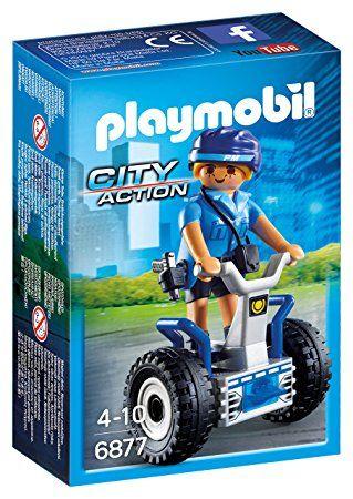 Politista cu masina de echilibru playmobil city action