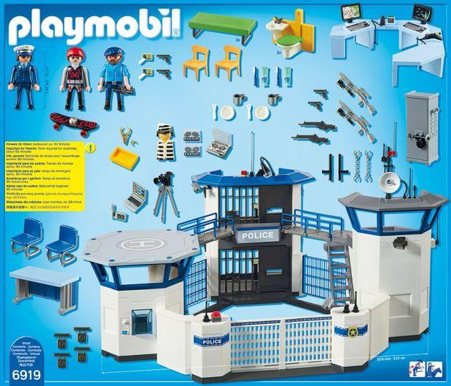 Sediu de politie cu inchisoare playmobil city action - 2