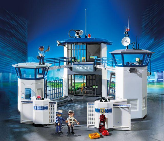 Sediu de politie cu inchisoare playmobil city action - 1