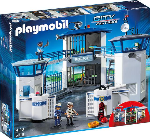Sediu de politie cu inchisoare playmobil city action
