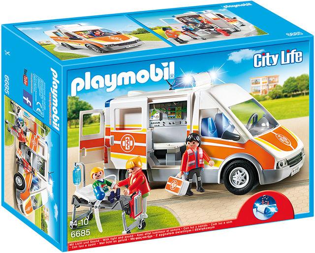 Ambulanta cu lumini si sunete playmobil city life