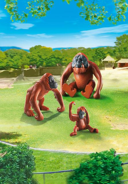 Familie de urangutani playmobil city life - 1