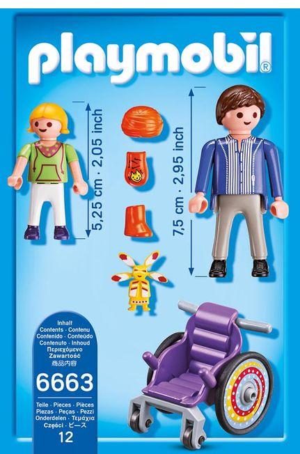 Copil in carucior cu rotile playmobil city life - 2