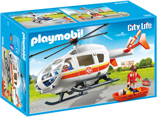 Elicopter medical de urgenta playmobil city life