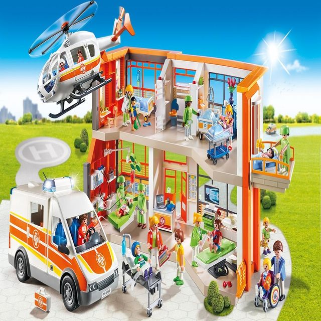 Spitalul de copii echipat playmobil city life - 1