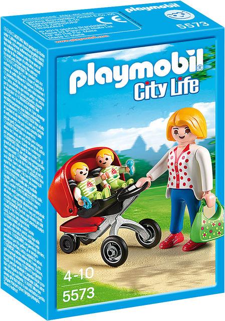 Carucior cu gemeni playmobil city life
