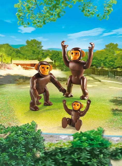 Familie de cimpanzei playmobil city life - 1
