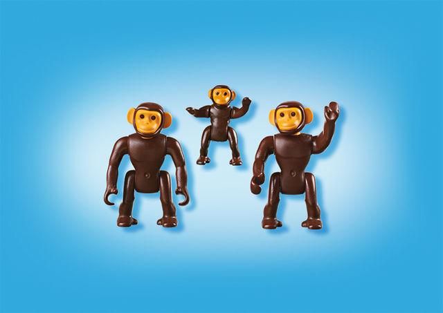 Familie de cimpanzei playmobil city life - 2