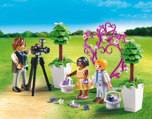 Copii cu flori si fotograf playmobil city life - 1