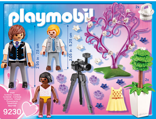 Copii cu flori si fotograf playmobil city life - 2