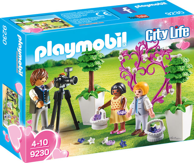 Copii cu flori si fotograf playmobil city life