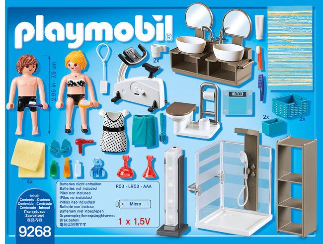Baie din casa moderna playmobil city life - 1