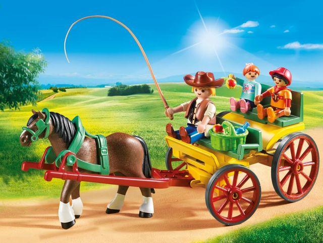 Trasura cu cal playmobil country - 3