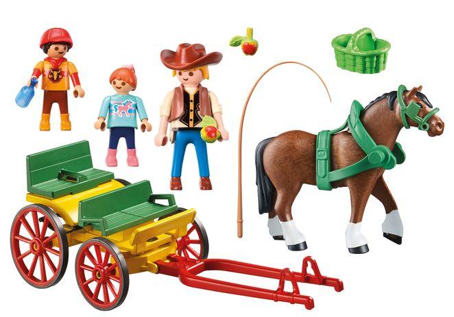 Trasura cu cal playmobil country - 2