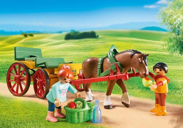 Trasura cu cal playmobil country - 1