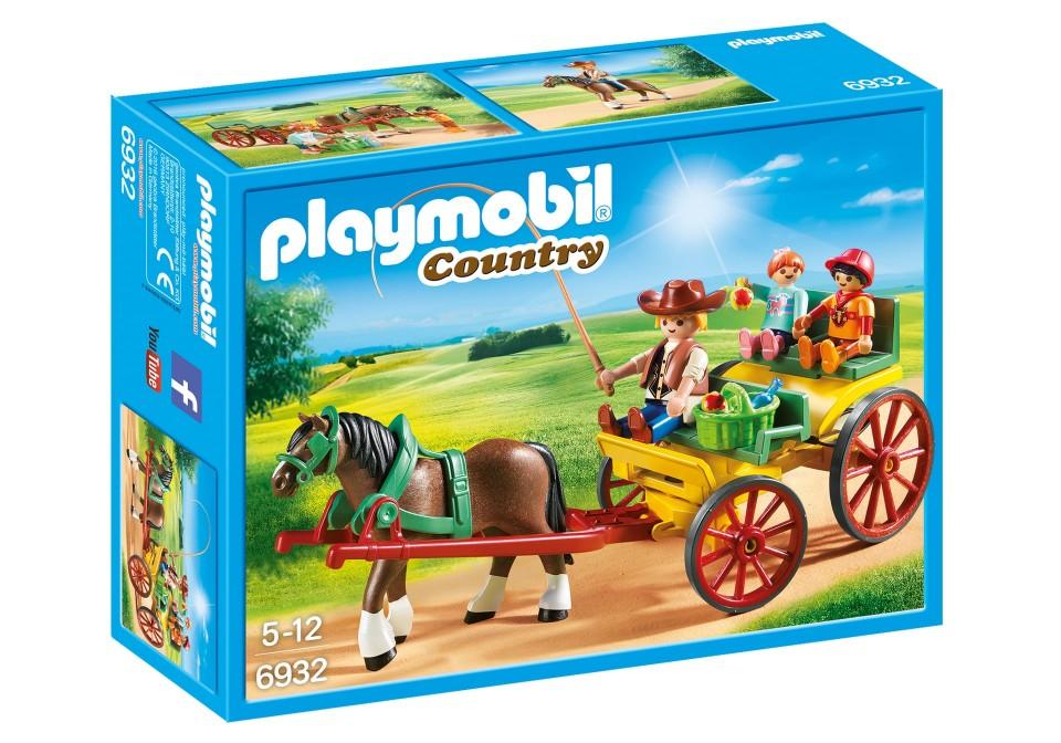 Trasura cu cal playmobil country