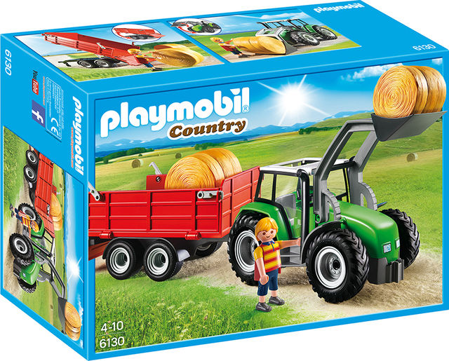 Tractor mare cu remorca playmobil country