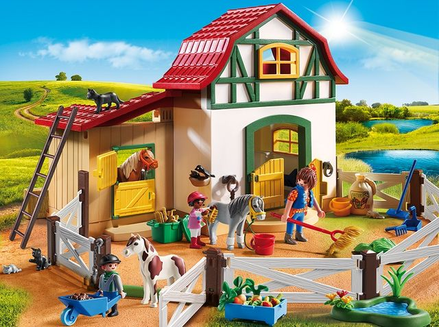 Ferma poneilor playmobil country - 2