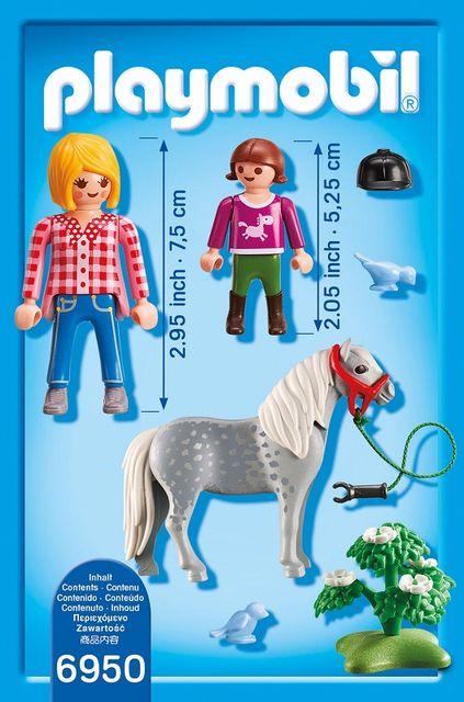 Plimbare cu poneiul playmobil country - 1