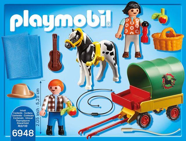 Trasura cu ponei si picnic playmobil country - 1