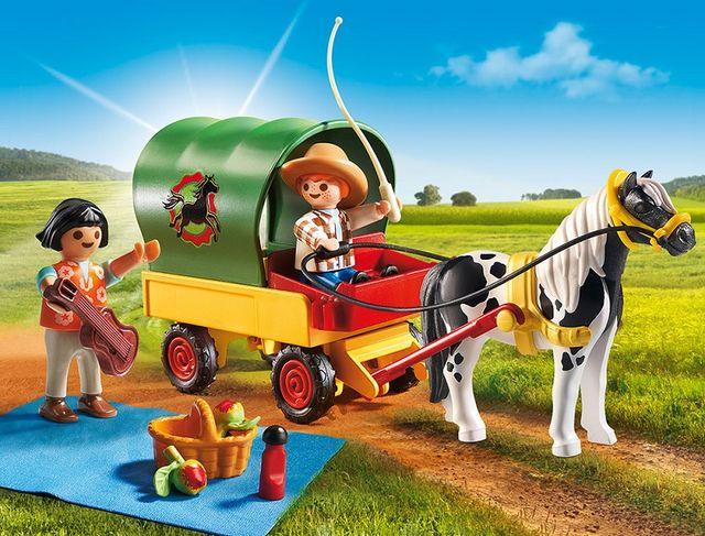 Trasura cu ponei si picnic playmobil country - 2