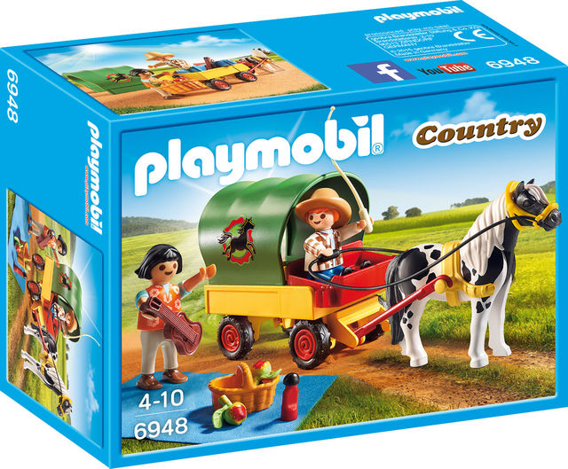 Trasura cu ponei si picnic playmobil country
