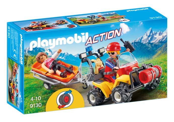 Salvatori montani cu targa playmobil action
