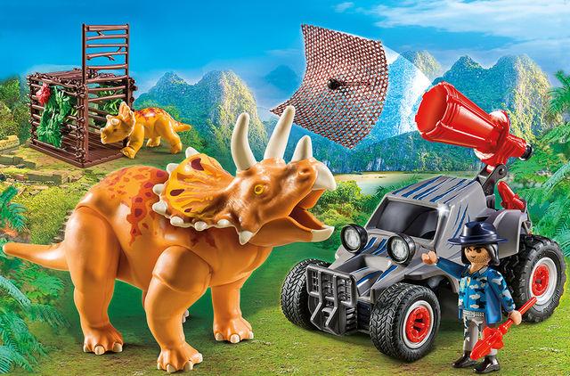 Automobil si triceratops playmobil the explorers - 2