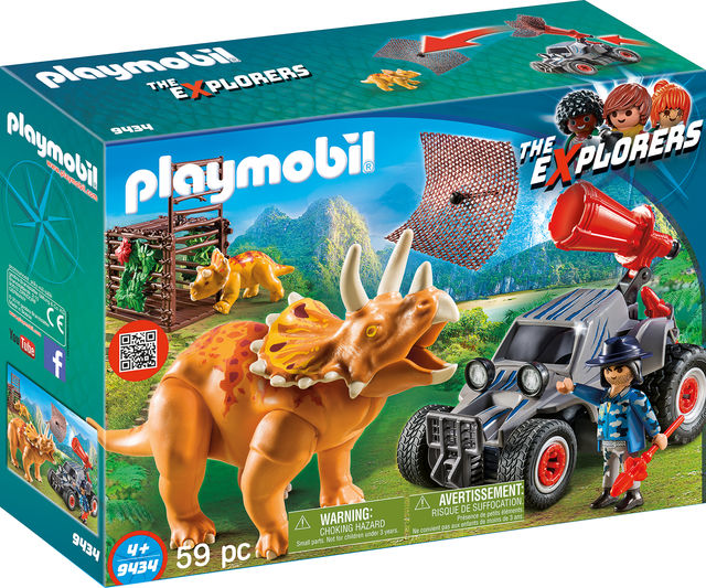 Automobil si triceratops playmobil the explorers