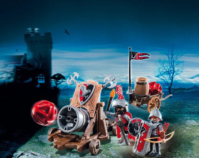 Cavaleri soim cu tun de batalie playmobil knights - 3