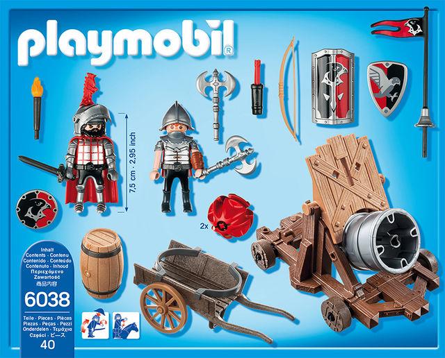 Cavaleri soim cu tun de batalie playmobil knights - 2